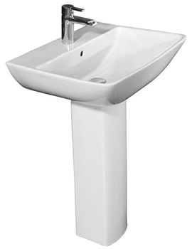 RAK Summit 600mm 1 Tap Hole Basin And Full Pedestal