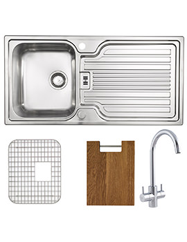 Astracast Montreux Brushed Stainless Steel Inset Sink And Tap Pack - 1.0B