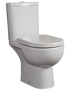 RAK Tonique Fully BTW Close Coupled WC Pack With Soft Close Seat 625mm