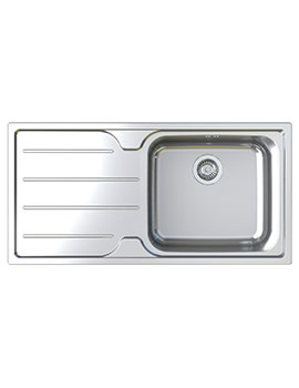 Astracast Plateau Polished Stainless Steel Flush Inset Sink - 1.0 Bowl