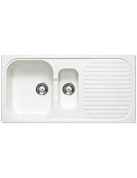 Astracast MSK Composite Quartz White Inset Sink - 1.5 Bowl
