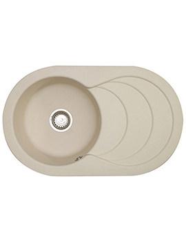 Astracast Cascade Composite Quartz Pale Cashmere Inset Sink - 1.0 Bowl
