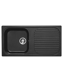 Astracast MSK Composite Quartz Italian Black Inset Sink - 1.0 Bowl