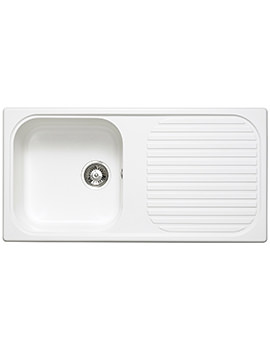 Astracast MSK Composite Quartz White Inset Sink - 1.0 Bowl