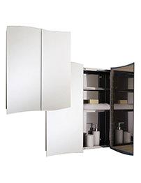 RAK Wave Stainless Steel Double Door Mirror Cabinet 600 x 700mm