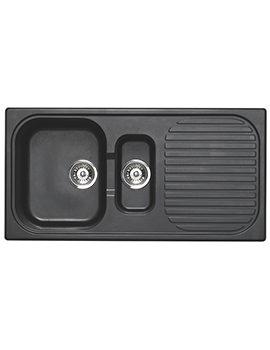 Astracast MSK Composite Quartz Italian Black Inset Sink - 1.5 Bowl