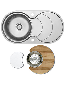 Astracast Cascade Stainless Steel Inset Sink And Accessories - 1.0 Bowl