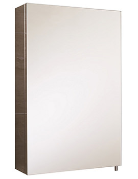 RAK Cube Stainless Steel Mirrored Bathroom Cabinet 1 Door - W 400 x H 600mm