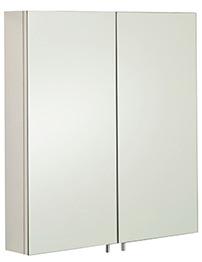RAK Delta Stainless Steel Double Door Mirror Cabinet 600 x 670mm