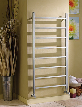 Apollo Genova Offset Stainless Steel Towel Warmer 1500mm x 500mm
