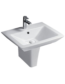 RAK Opulence His 580mm 1 Tap Hole Basin And Half Pedestal