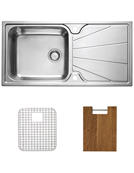 Astracast Korona Stainless Steel Inset Sink And Accessories - 1.0 Bowl