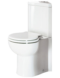 RAK Evolution Close Coupled Corner WC Pan With Cistern And Seat 673mm