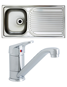 Astracast Aegean Satin Polish Inset Sink And Tap Pack - 1.0 Bowl