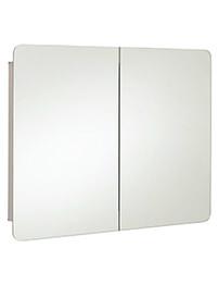 RAK Duo Stainless Steel Double Door Mirror Cabinet 800 x 660mm