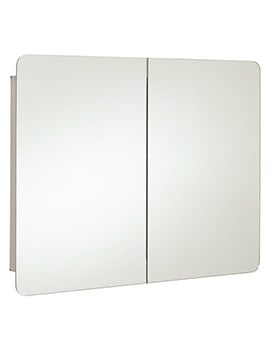 RAK Duo Stainless Steel Double Door 800 x 660mm Mirror Storage