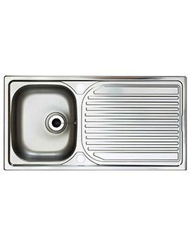 Astracast Aegean Satin Stainless Steel Inset Sink - 1.0 Bowl