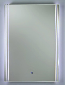 RAK Reflections 5 500 x 700mm LED Portrait Mirror White Framed