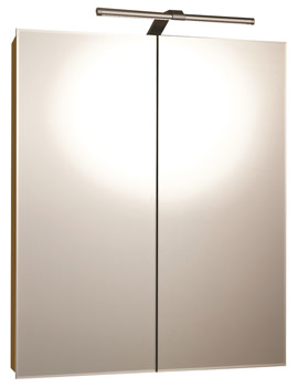 RAK Vogue Luxury Aluminium Double Door Mirror Cabinet 600 x 700mm