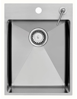 Astracast Onyx Medium Stainless Steel Inset Sink With Tap Deck - 1.0 Bowl