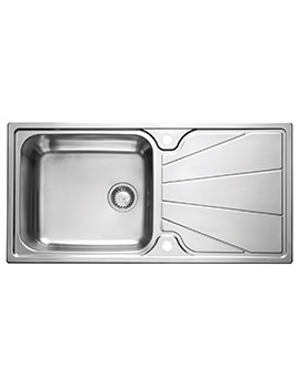 Astracast Korona Polished Stainless Steel Inset Sink - 1.0 Bowl