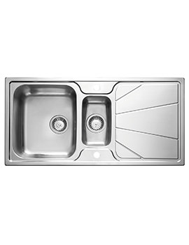 Astracast Korona Polished Stainless Steel Inset Sink - 1.5 Bowl