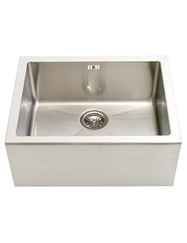 Astracast Belfast Brushed Stainless Steel Sit-In Sink - 1.0 Bowl