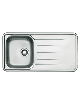 Astracast Topaz Polished Stainless Steel Inset Sink - 1.0 Bowl
