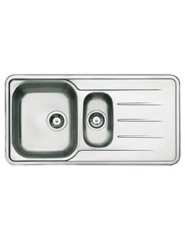 Astracast Topaz Polished Stainless Steel Inset Sink - 1.5 Bowl