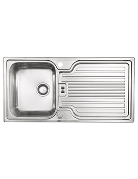 Astracast Montreux Brushed Stainless Steel Inset Sink - 1.0 Bowl