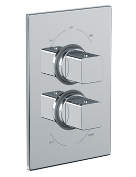 Abode Fervour Concealed Thermostatic Shower Valve 2 Exit