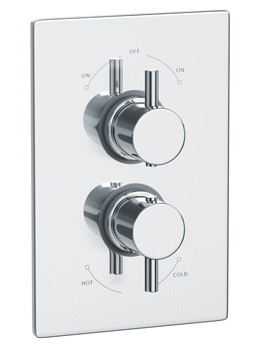 Abode Harmonie Concealed Thermostatic Shower Valve With 2 Exit