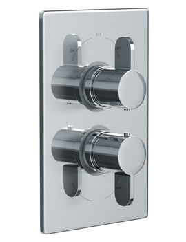 Abode Bliss Concealed Thermostatic Shower Valve 2 Exit Chrome