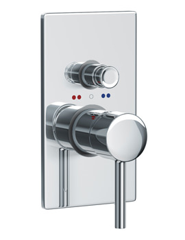Abode Harmonie Concealed Manual Shower Valve 2 Exit Chrome