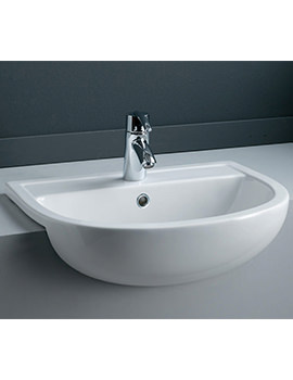 RAK Compact 550mm Semi Recessed Basin