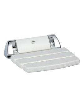 Mira Folding White And Chrome Shower Seat