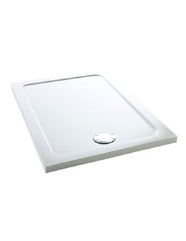 Mira Flight Low Rectangle Shower Tray 1200 x 800mm White