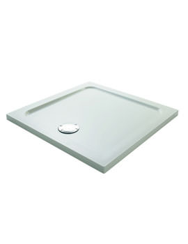 Mira Flight Safe 800 x 800mm Square Shower Tray With 2 Upstand