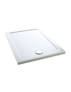 Mira Flight Low 1000 x 800mm Rectangular Shower Tray With Waste