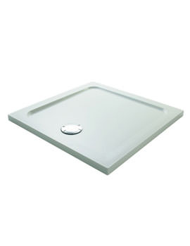 Mira Flight Safe 800 x 800mm Square Shower Tray White