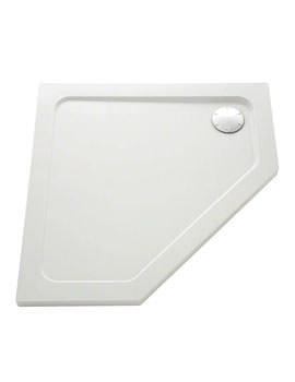 Mira Flight Safe Pentagon 900 x 900mm Shower Tray With Waste