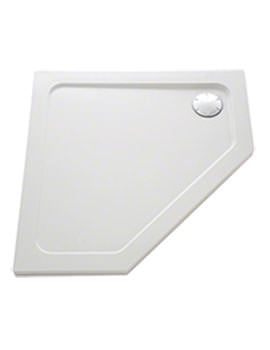 Mira Flight Low 1200 x 900mm LH Pentagon Shower Tray With Waste