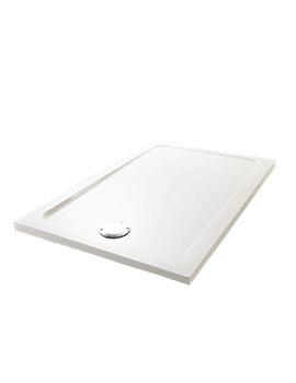 Mira Flight Low 1100 x 800mm Rectangular Shower Tray With Waste
