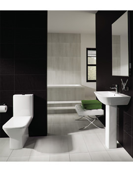 RAK Summit Cloakroom Suite - White