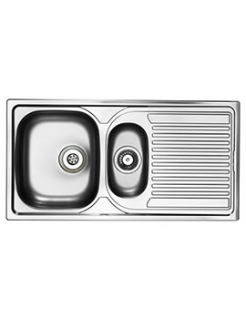 Astracast Aegean Satin Stainless Steel Inset Sink - 1.5 Bowl