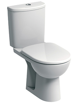 Twyford E100 Round Standard Close Coupled WC Pan And Cistern 670mm