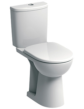 Twyford E100 Round 460mm Raised Height Close Coupled WC Suite