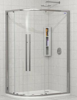 Showerlux Linea Touch Twin Door Offset Quadrant 1000 x 800mm