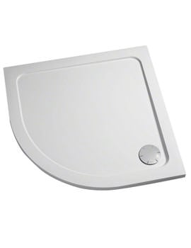 Mira Flight Low 1000 x 1000mm Quadrant Shower Tray White