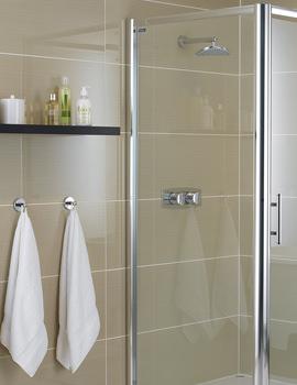 Showerlux Glide 6mm Clear Glass Side Panel 900mm